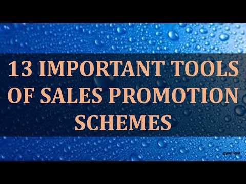 13 IMPORTANT TOOLS OF SALES PROMOTION SCHEMES