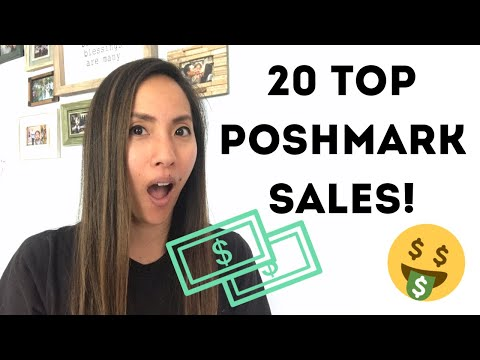 My Top 20 Poshmark Sales: What Items Have Sold for the Most in My Poshmark Closet?