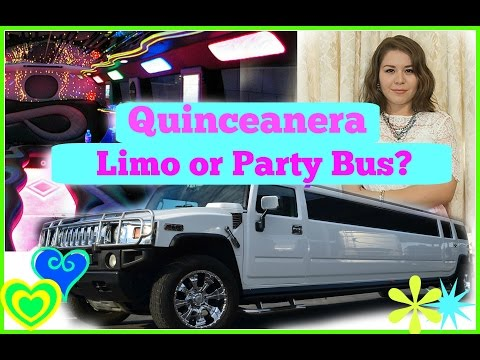 Quinceanera/wedding Party bus or Limousine! MyQuinceañera
