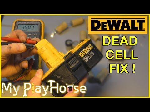 Repairing a dead 18 volt NI-MH DeWalt Battery Pack – 763