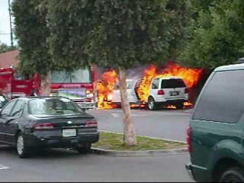 limousine burning