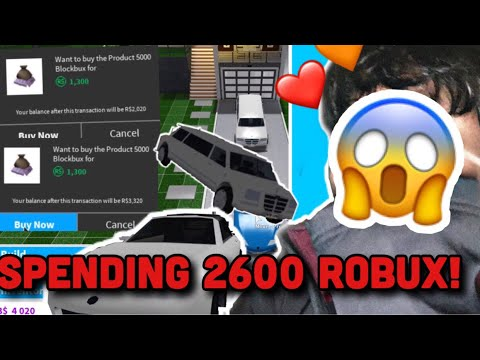 SPENDING 2600 ROBUX TO BUY LIMOUSINE AND BLOXUS TS! *NOT A CLICKBAIT* (RIP ROBUX) | Roblox