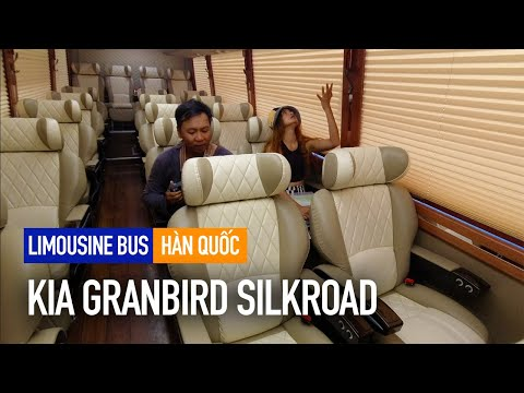 Review xe buýt limousine chở vlogger ở Hàn Quốc | KIA Granbird Silkroad S125 | Travip Vlog