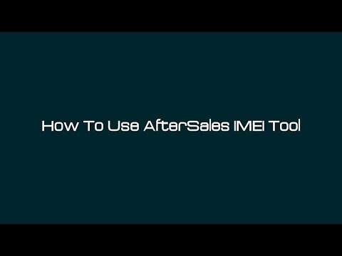 How To Use AfterSales IMEI Tool – [romshillzz]