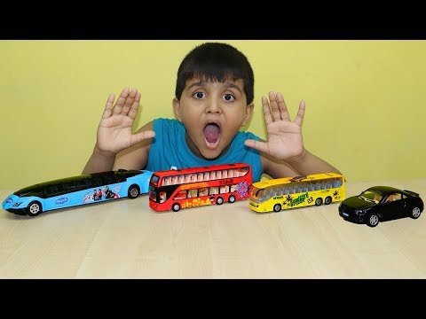 Best Colorful Toy Learn Sizes from Small to Biggest with limousine car Surprise Rehan Video for kids