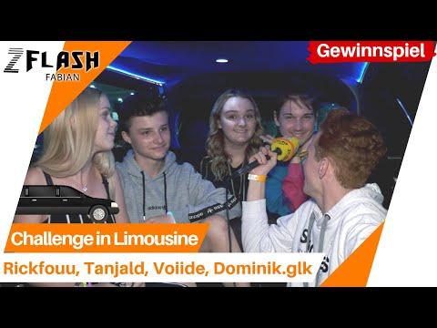 Challenge in Limousine mit Rickfouu, Voiide, Tanjald und Dominik.glk 😍🔥 Rose an Rick? 😱😯