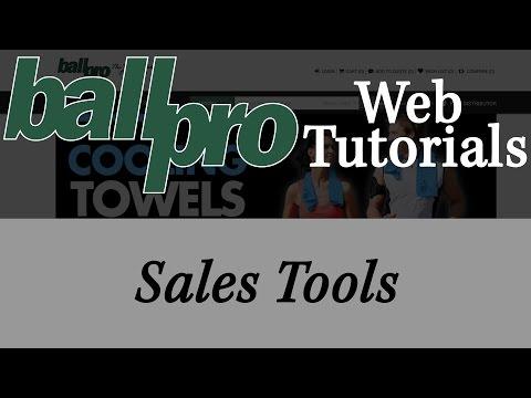 Ball Pro Web Tutorials – Sales Tools