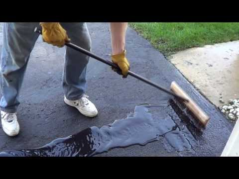 How to Apply a Driveway Sealer – Sealing a Driveway