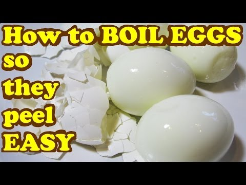 How To Cook Boiled Eggs So They Peel Easy - Egg Shell