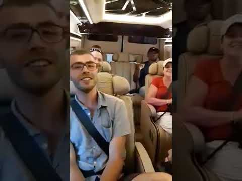 Karaoke on Limousine 😂😂 Cu Chi tunnel or Mekong delta tour by Limousine