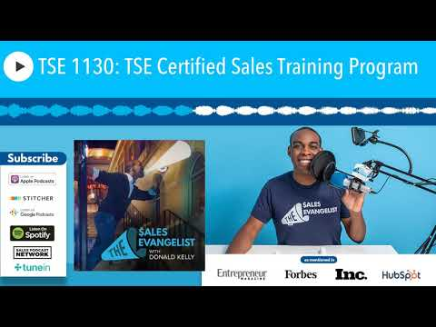 TSE 1130: TSE Certified Sales Training Program