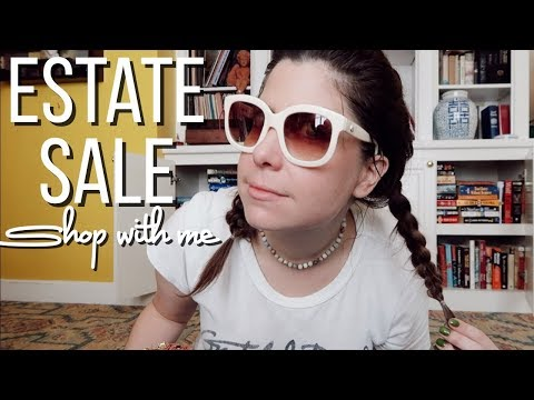 SHOP WITH ME AT ESTATE SALES | looking for items to sell on Poshmark