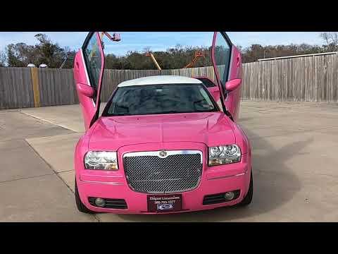 Elegant Limousine's Pink Chrysler 300 Limo In Daytona Beach