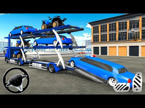 US Police limousine Car Quad Bike Transporter – Android Gameplay