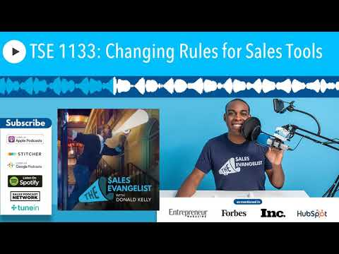 TSE 1133: Changing Rules for Sales Tools