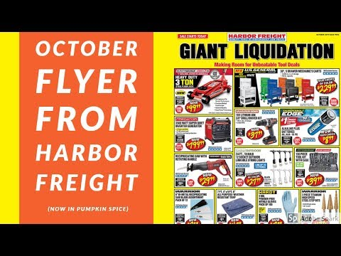 October Sales Flyer from Harbor Freight!