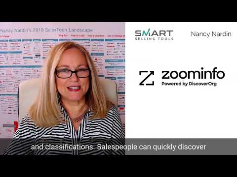 ZoomInfo Powered by DiscoverOrg Review: by Nancy Nardin of Smart Selling Tools
