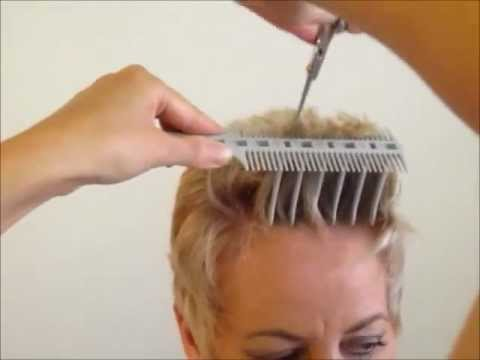 How to Cut Women's Short Hair  Layer Haircut – CombPal Scissor Over Comb Hair-Cutting tool video 6