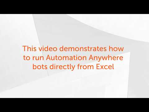 How To Run a Bot Inside Excel   RPA Productivity Tools