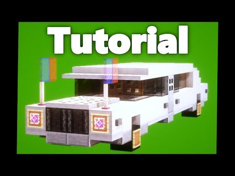 Minecraft: How To Build A Limousine Car Tutorial [Easy]