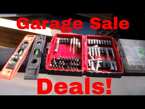 Construction Tools and Materials Garage Sale, Got Some Amazing Deals!