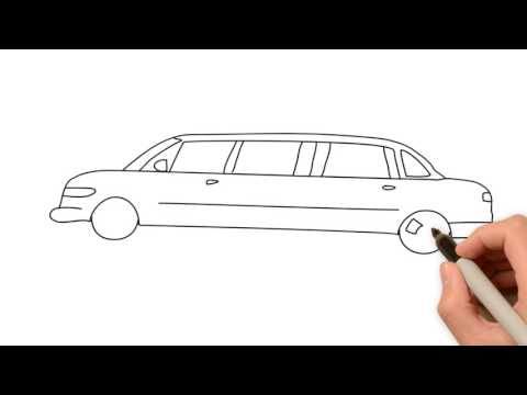 How to draw limousine