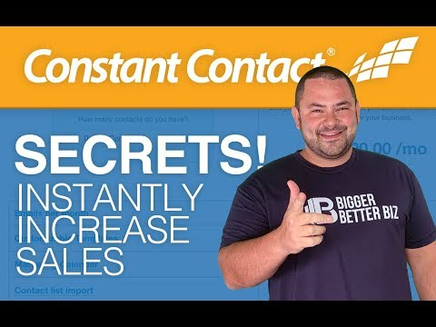 How To Instantly Increase Sales! Secret Mix of Tools in Constant Contact