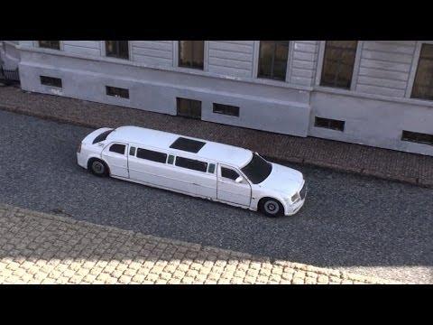 Outdoor Faller Car Chrysler 300c Limousine at Miniature City Madurodam Netherlands