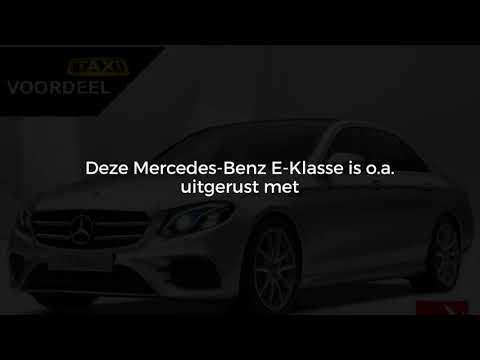 Mercedes-Benz E-Klasse E 200 d Limousine Automaat Business Solution | Taxi Aanbieding